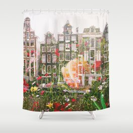 Flowers in Amsterdam Shower Curtain