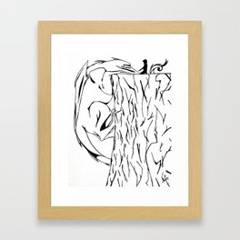 Cliff Companion Framed Art Print