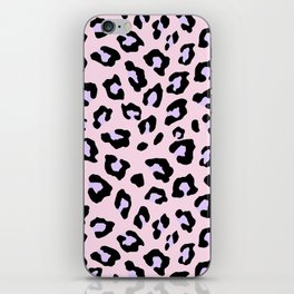 Leopard Print - Lavender Blush iPhone Skin
