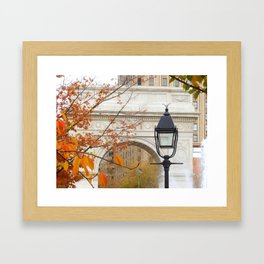 Fall in Washington Square Park, NYC Framed Art Print