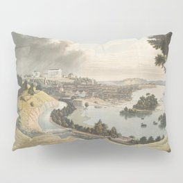 Vintage Pictorial Map of Richmond VA (1834) Pillow Sham