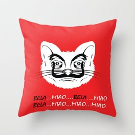BELA MIAO EBAY CASA DE PAPEL Throw Pillow