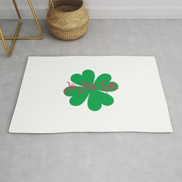 Jiu Jitsu Girl Irish St Patricks Day Shamrock Rug