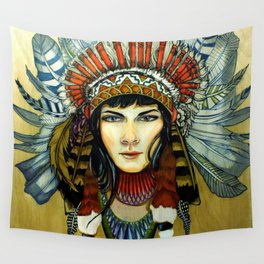 Indian Spirit Girl Wall Tapestry