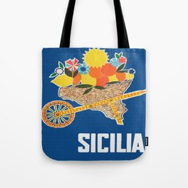 Sicilia - Sicily Italy Vintage Travel Tote Bag