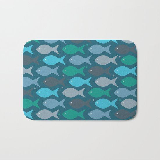 fish pattern Bath Mat