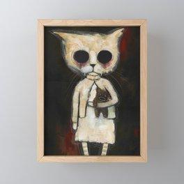 Fiona and Teddy Bear Framed Mini Art Print