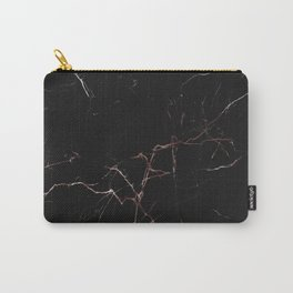 black and rose gold marble Carry-All Pouch