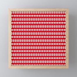 Christmas Pattern Red White 1 Framed Mini Art Print