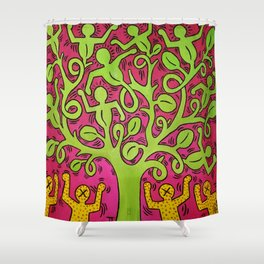 Copy of Tree of Life - Keith Haring Shower Curtain