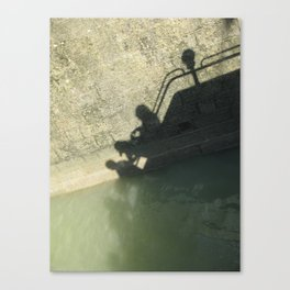 Falling into the Water #moods #buyartprints #society6 Canvas Print