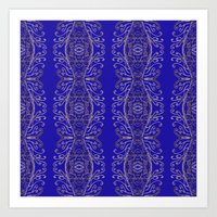 Blue on Blue for Blue Days and Blue Weaves Art Print