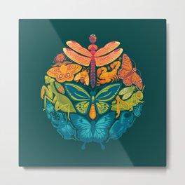 Bugs & Butterflies 2 Metal Print