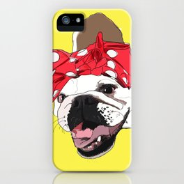 She Persisted.  Rosie the Bulldog iPhone Case