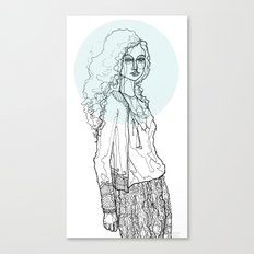 Teal Nimbus Canvas Print