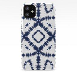 White & Indigo Blue Itajime Shibori iPhone Case