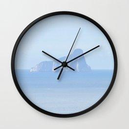 island in the ocean Wall Clock