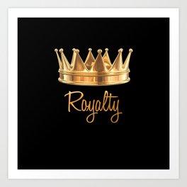 Royalty Gold Crown Art Print