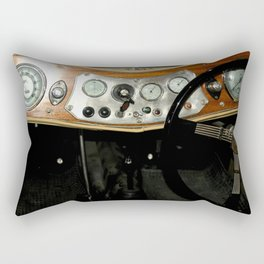 "1948 MG ""TC"" Sports Car Dashboard Rectangular Pillow"