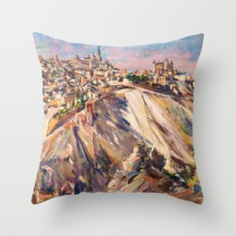 Toledo, Spain by David Bomberg Throw Pillow