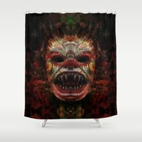 demon Shower Curtains featuring Demon by Zandonai