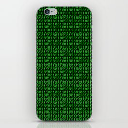 Binary Green iPhone Skin