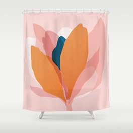 Abstraction_Floral_Blossom Shower Curtain