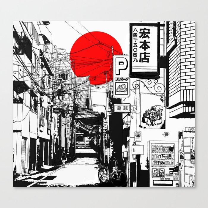 Tokyo street sunrise Leinwanddruck