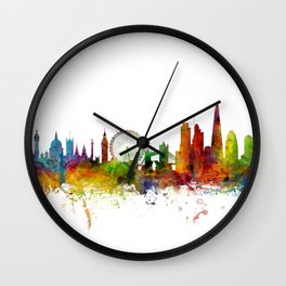 London England Skyline Cityscape Wall Clock