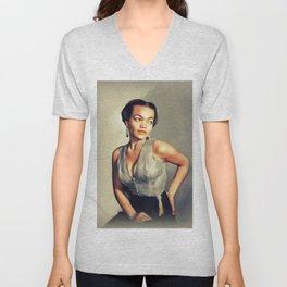 Eartha Kitt, Hollywood Legend Unisex V-Neck