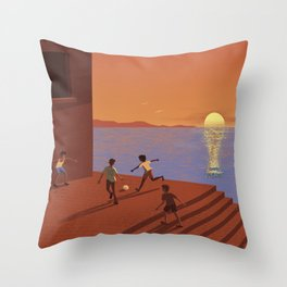 Dreaming the World Cup Throw Pillow