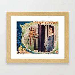 The Haunted House, vintage horror movie poster 1928 Framed Art Print