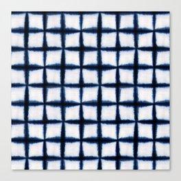 Shibori Squares Canvas Print