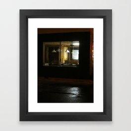 Outside The Edward Hopper Cafe Framed Art Print