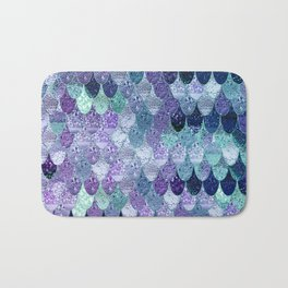 SUMMER MERMAID  Purple & Mint by Monika Strigel Bath Mat