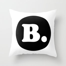 The Letter B. Throw Pillow