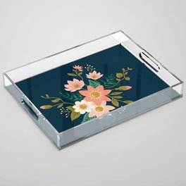 Spring flowers Acrylic Tray