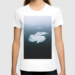 Minimalistc Iceberg during a hazy day with dark foreground T-shirt