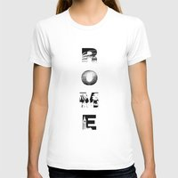 rome T-shirts featuring ROME by Candace Fowler Ink&Co.