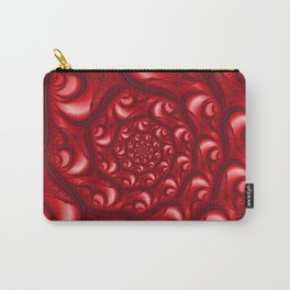 Fractal Web in Red White and Black Carry-All Pouch