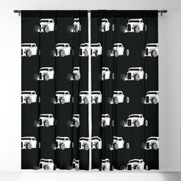 Vintage American Hot Rod Blackout Curtain