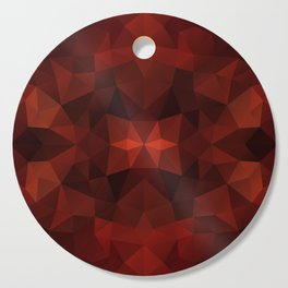 Red and black triangles design Cutting Board