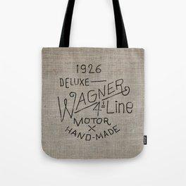 Hand lettering engine block Tote Bag