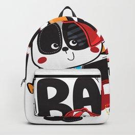 Panda Baseball - Cute Happy Sports Panda Bear KIDS Backpack