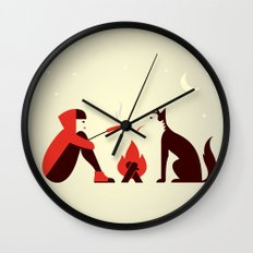 Little Red and Big Bad Wall Clock