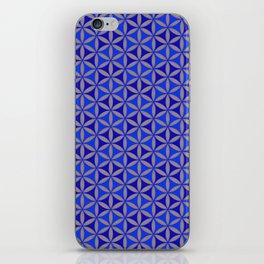 Flower of Life Blue Pattern iPhone Skin