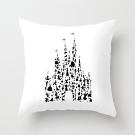 Character Castle Throw Pillow
