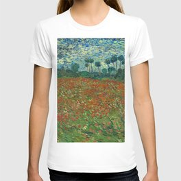 Vincent van Gogh - Poppy Field (1890) T-shirt