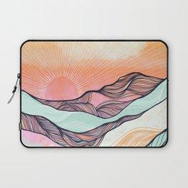Sunset Mountain Morning  Laptop Sleeve