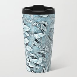Ocean Tips Silver Blue Abstract Travel Mug